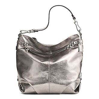 Coach Leather Large Brooke Convertible Hobo Bag Purse 16618 Pewter ...