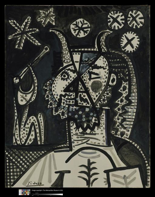 * Faune et nuit étoilée 1957 Picasso