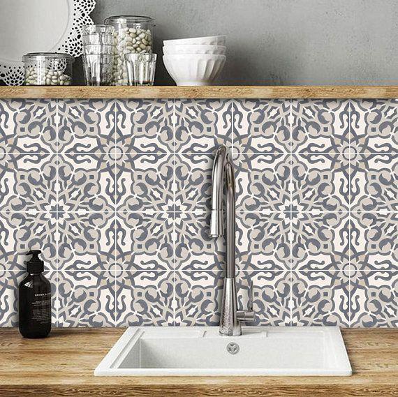 Kitchen And Bathroom Splashback Removable Vinyl Wallpaper Etsy In 2021 Bathroom Splashback Removable Wallpaper Bathroom Splashback