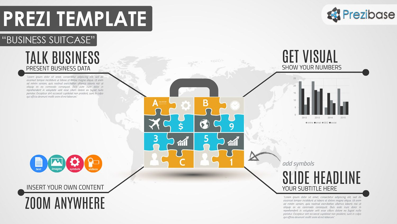 presi templates - business puzzle jigsaw diagram prezi template prezi