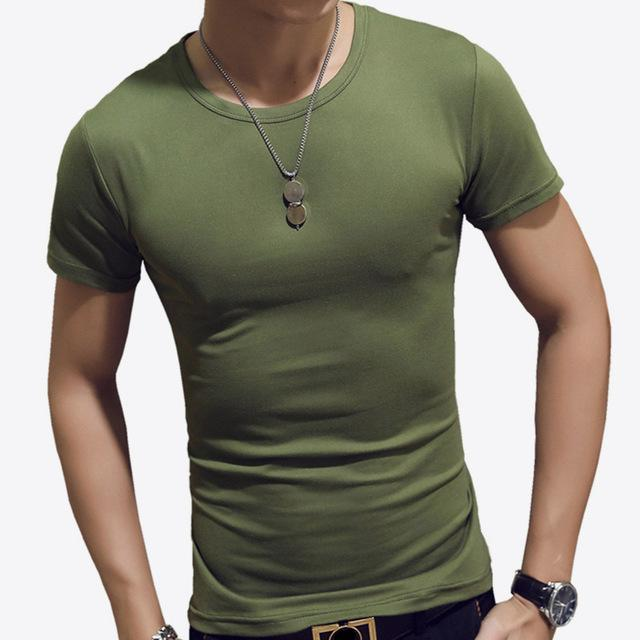 3d8bd0b22a6336 LLYGE Men's Short Sleeve O Neck Casual Slim Fit T-Shirts | Products ...