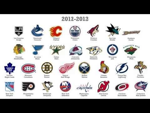 Every Nhl Team Logo By Year Youtube Nhl Logos Hockey Logos Nhl