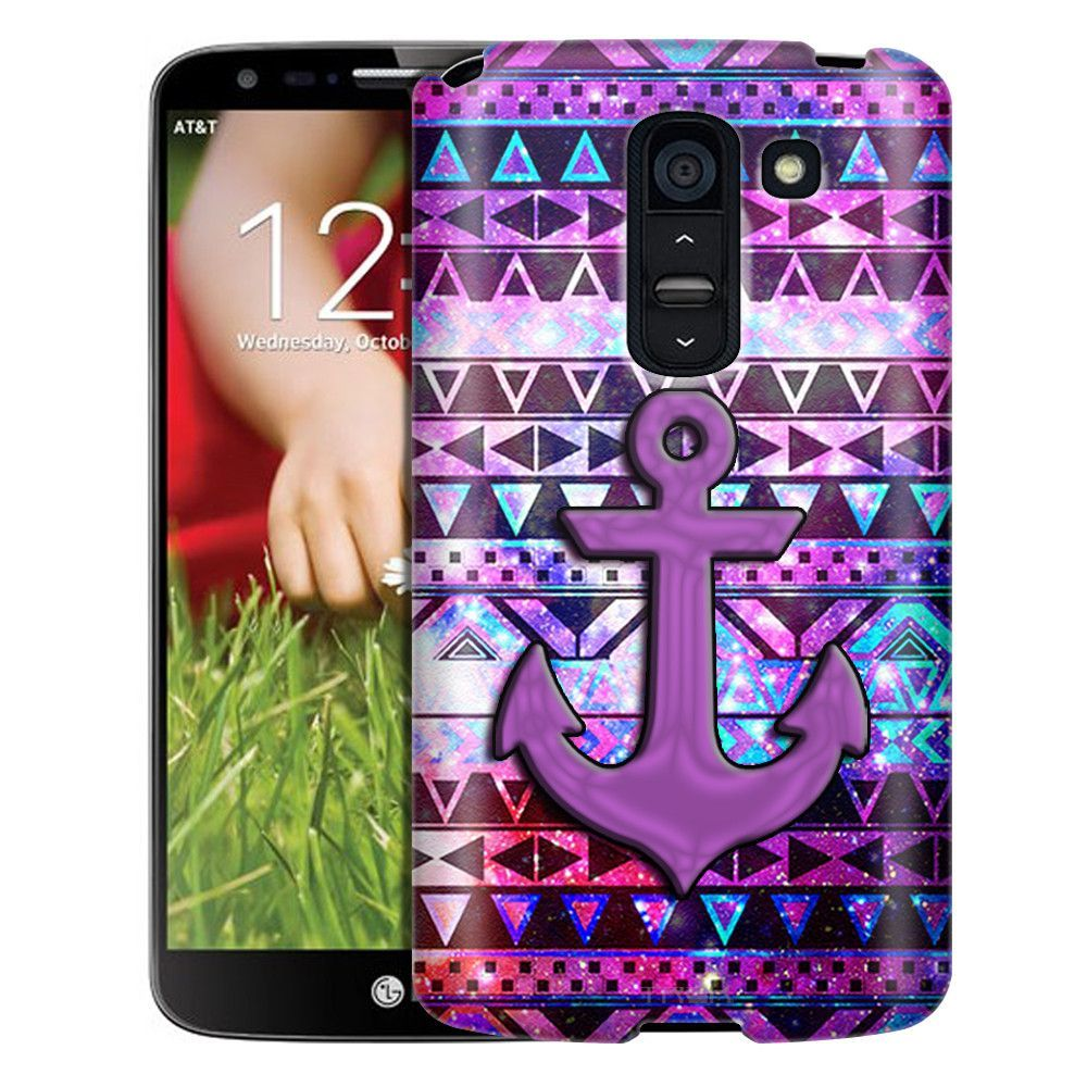 LG G2 Slim Case Anchor on Aztec Nebula Galaxy Black Slim Case