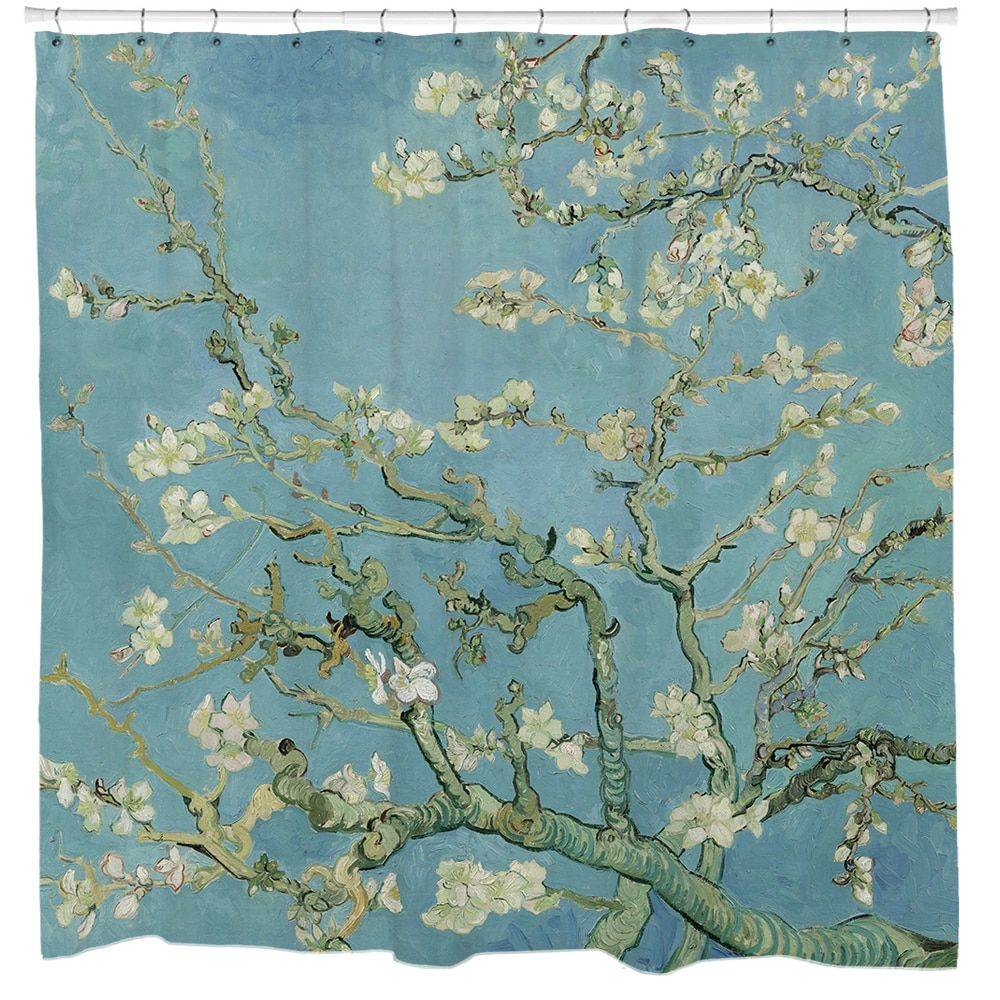 Almond Blossoms Van Gogh Shower Curtain | Products, Curtains and ... for Almond Blossom Van Gogh Poster  75sfw