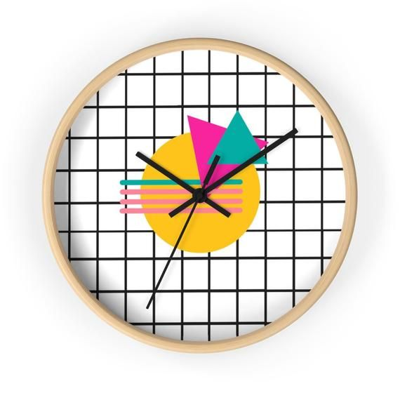 Memphis 80S Style Saved By The Bell Style Wall Clock