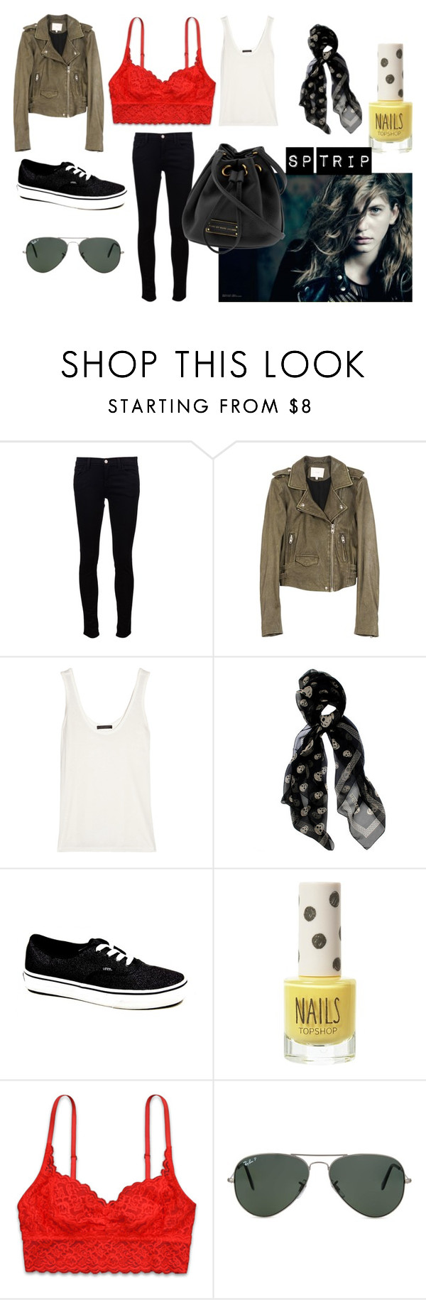 """""""Sp trip"""" by anaunderground on Polyvore featuring moda, J Brand, The Row, Alexander McQueen, Vans, Marc by Marc Jacobs, Topshop e Ray-Ban"""