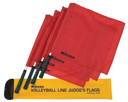 Mikasa Line Judge S Flags Set Of Four With Carrying Case By Mikasa 42 55 Set Of Four Volleyball Line Judge S Flags With Carryin Volleyball Referee Mikasa