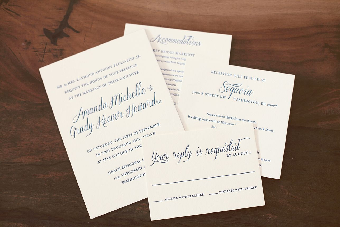 Suite Hearts Design Wedding invitation suite for