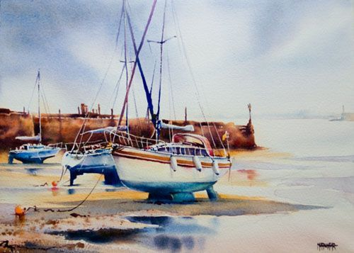 Aquarelles Marines Aquarelle Marichalar Watercolor Watercolor