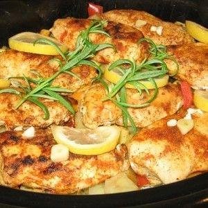 Rezept der Woche - Knoblauch-Hähnchen, kretische Art #healthycrockpotchickenrecipes