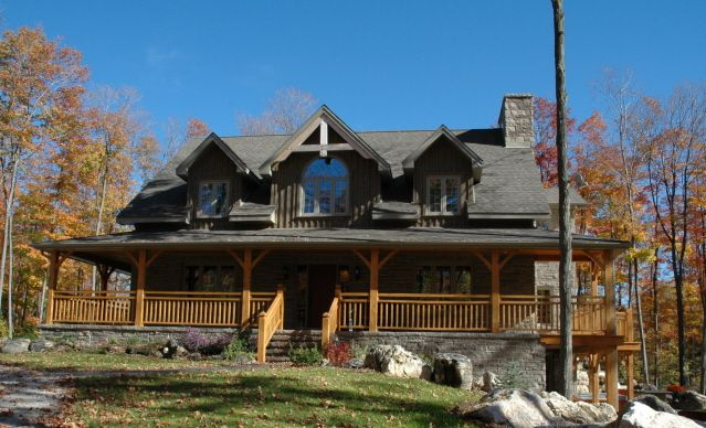 Loving this with wrap around porch timber frame homes for Rockwood homes