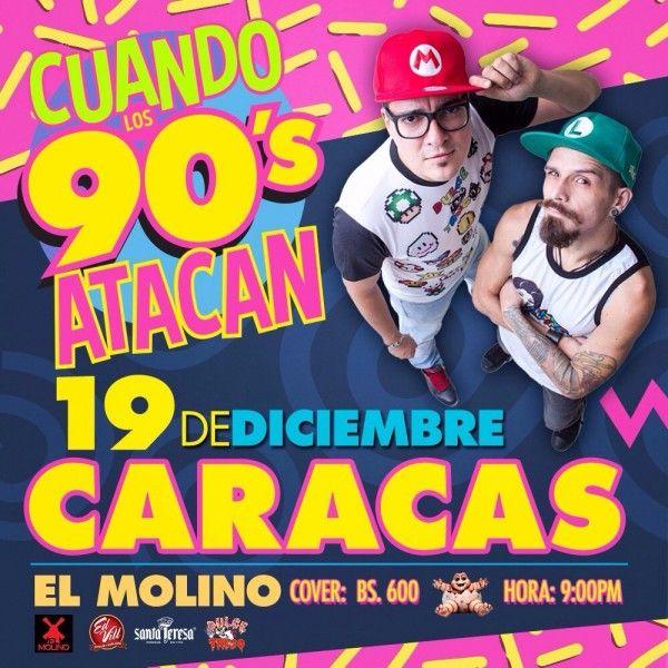"""El Molino presenta: """"Cuando Los 90´s Atacan"""" http://crestametalica.com/events/el-molino-presenta-cuando-los-90s-atacan/ vía @crestametalica"""