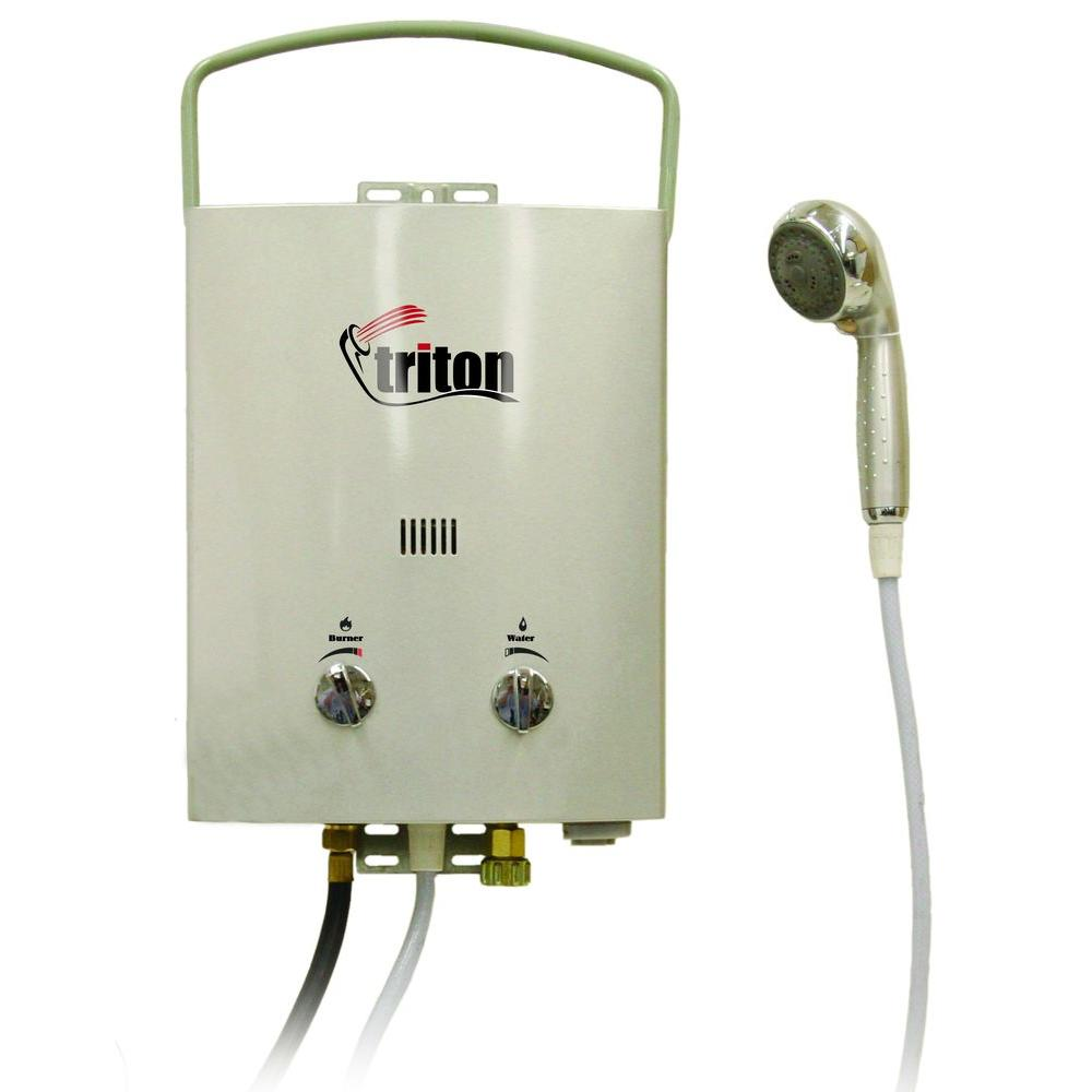 Camp Chef Triton 5 L Portable Water Heater Hwd5 The Home Depot In 2020 Portable Water Heater Camping Shower Water Heater