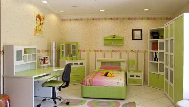 Kids Room Fantastic Ceiling Decoration Cool Cabinets Colorful Bed ...