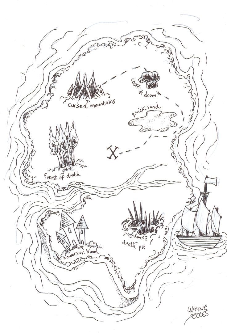 how to draw a pirate treasure map  pirate treasure maps