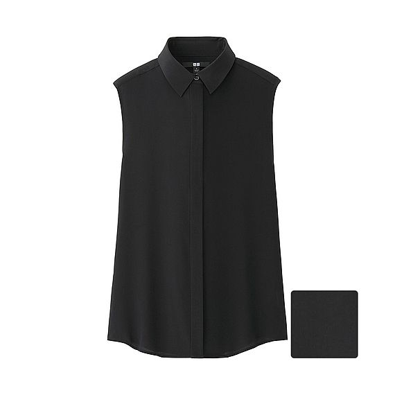 Uniqlo £29.90 - Silk Sleeveless Blouse (own one like this - get some more)