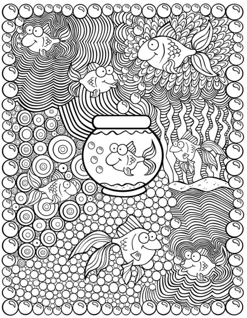 kleurplaat vis dover publications kleurplaten bovenbouw