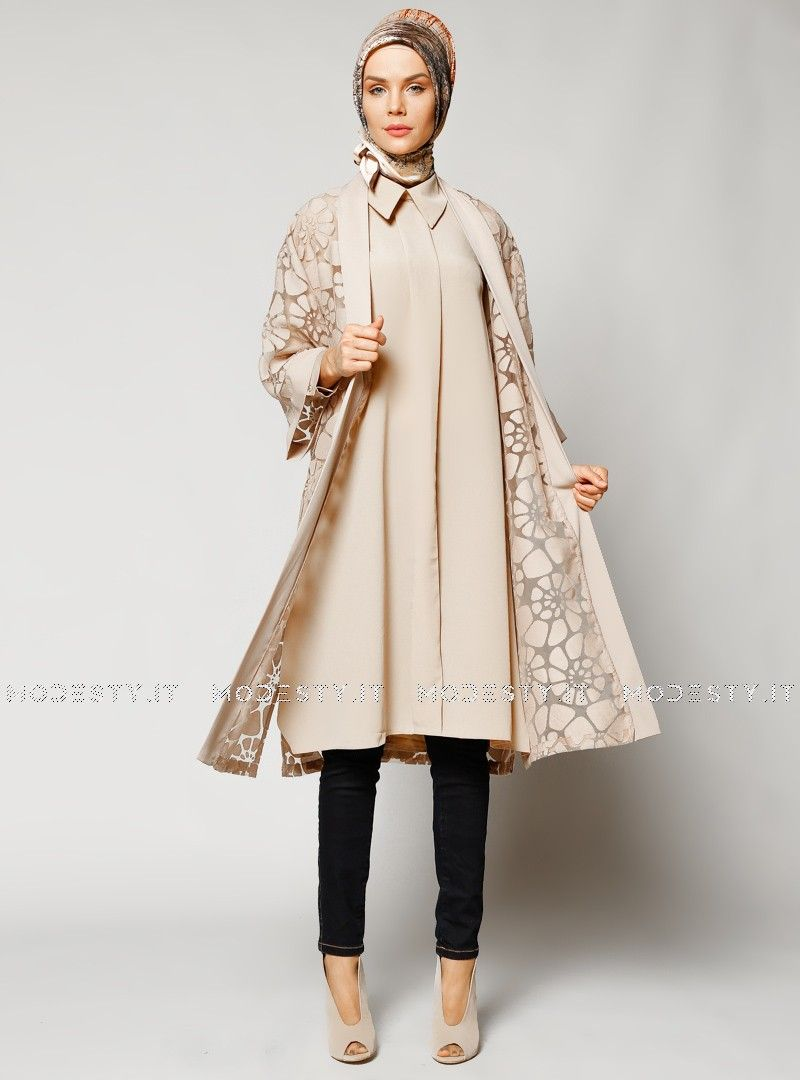 islamische kleidung fuer frauen mymodestystyle.com besuchen sie unsere shop #hijab #abayas #tuekische kleider #abendleider #islamischekleidung  Fired Topcoat - Beige - Refka - <p>Fabric Info:</p> <p>70% Cotton</p> <p>30% Polyester</p> <br> <p>Unlined</p> <p>Weight: 0.27 kg</p> <p>Measures of 38 size:</p> <p>Height: 117 cm</p> <p>Bust: 104 cm</p> <p>Waist: 114 cm</p> <p>Hips: 112 cm</p> - SKU: 232094. Buy now at http://muslimas-shop.com/fired-topcoat-beige-refka.html