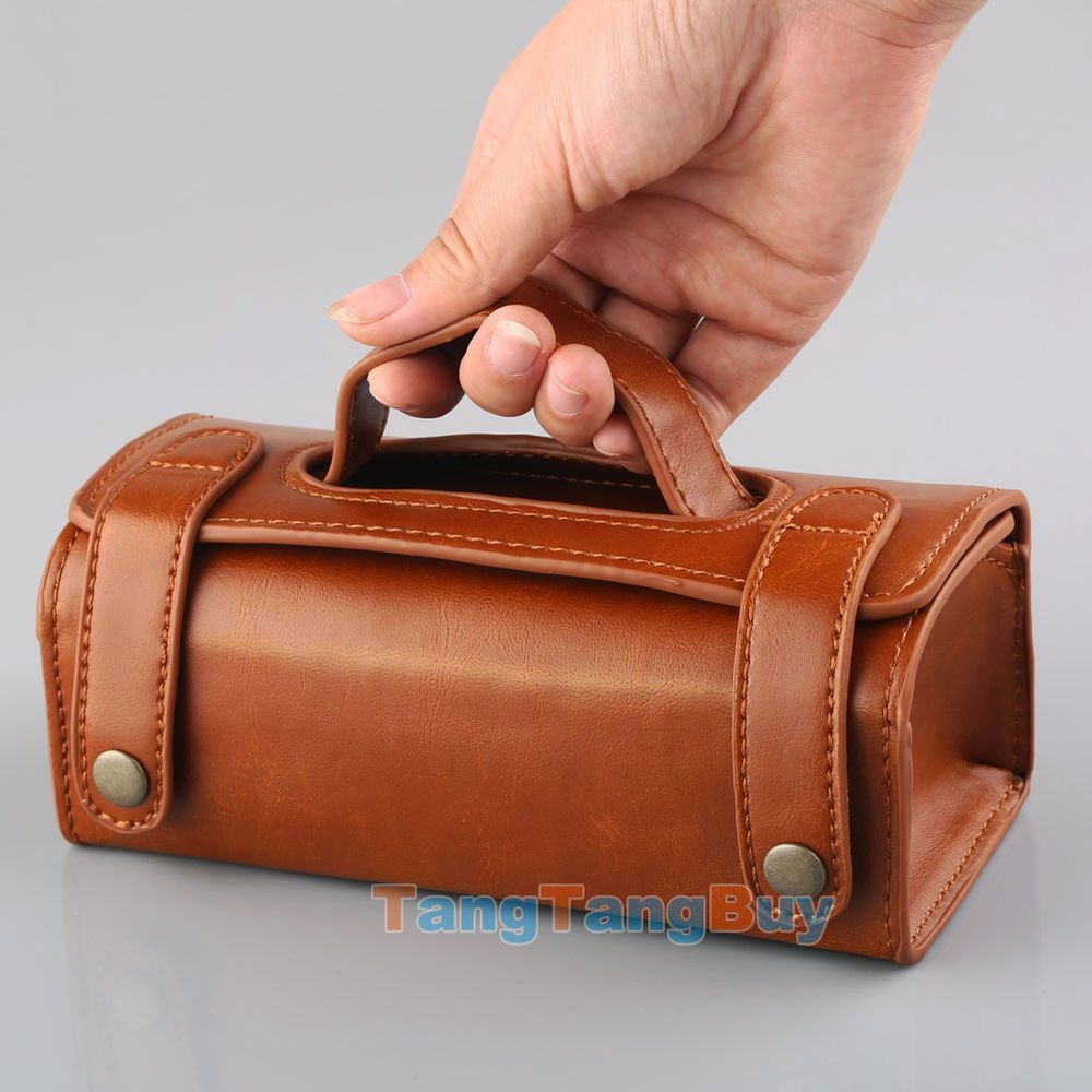 Mens Travel Toiletries Cosmetic Bag Brown Pu Leather Shaving Wash Toiletry Case Ebay Leather Leather Diy Genuine Leather Totes