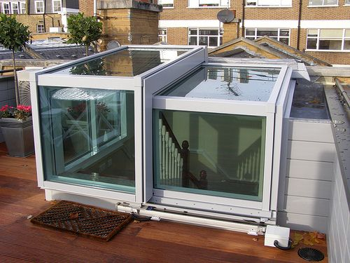 Semi Retracting Roof Access Hatch