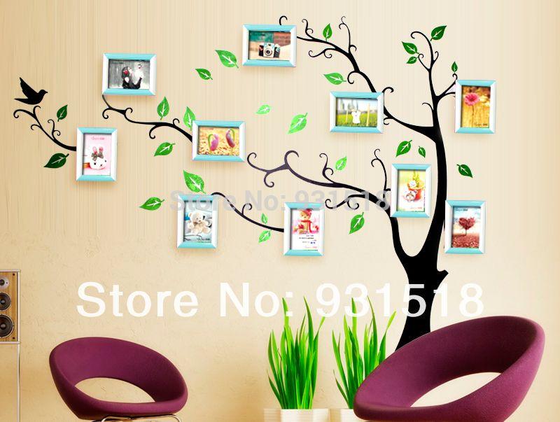 Combinación de 10 cajas árbol genealógico foto de la pared del marco ...