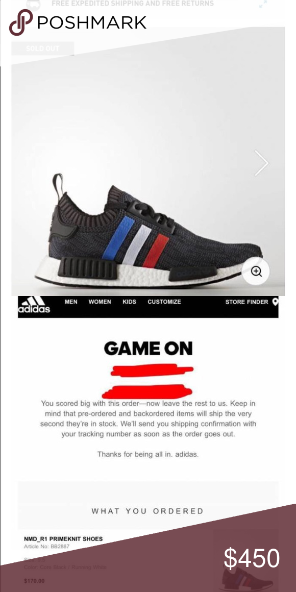 Adidas NMD R1 Primeknit Tricolor Shoes Brand new! 100% authentic. I will  ship