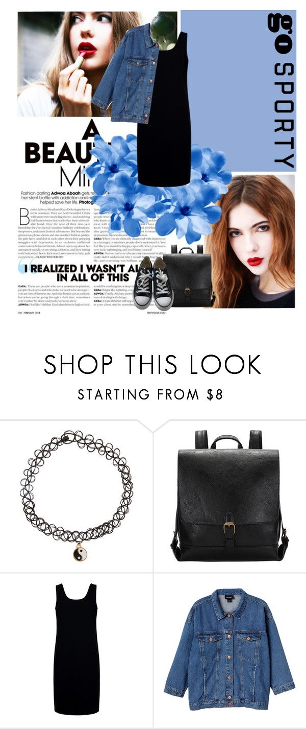 """""""Go Sporty/By Ebba Zingmark"""" by sena-celik ❤ liked on Polyvore featuring Sensai, Accessorize, Être Cécile, Monki and Converse"""