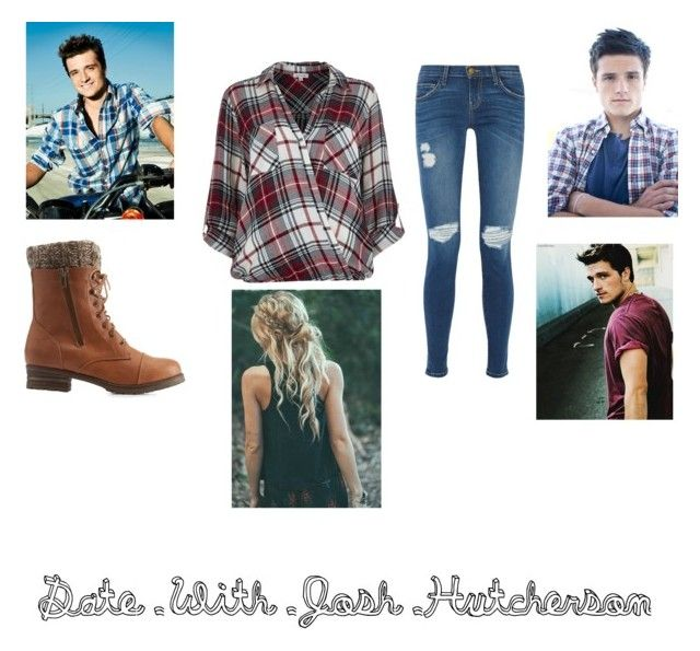 """""""Date With Josh Hutcherson"""" by kmmarkham-1 ❤ liked on Polyvore featuring Current/Elliott, Charlotte Russe, River Island, women's clothing, women's fashion, women, female, woman, misses and juniors"""