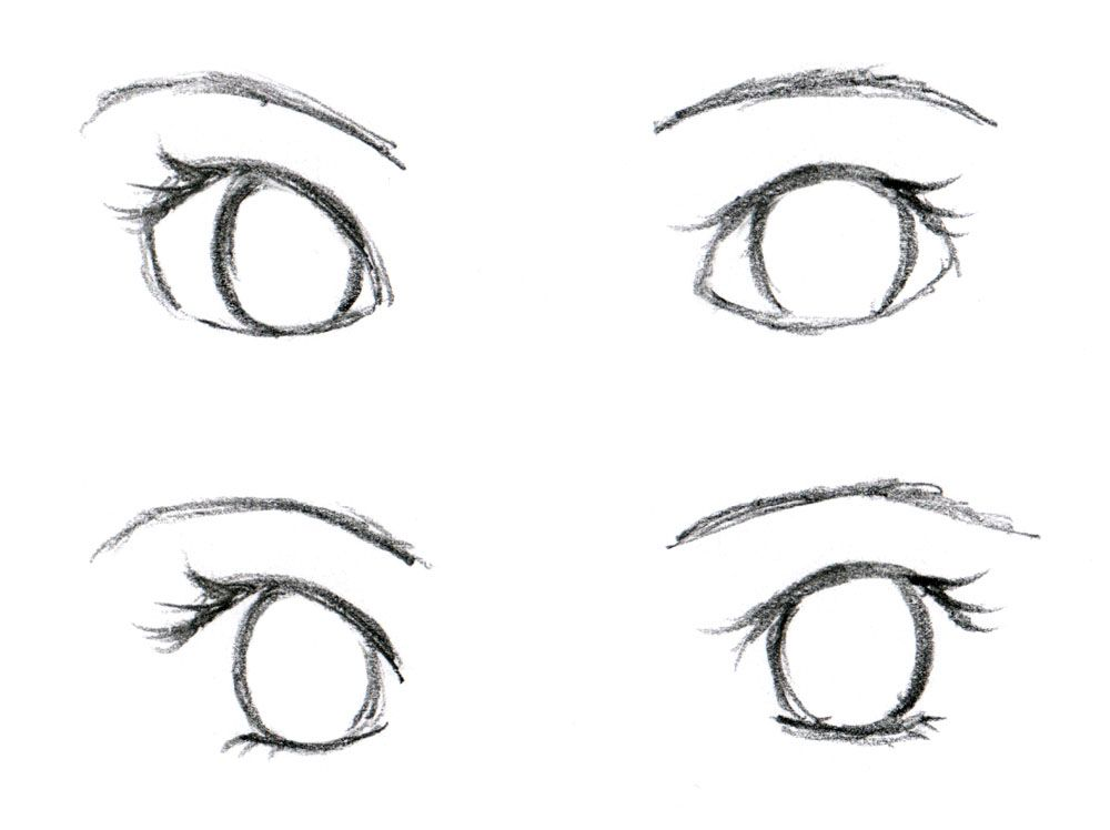 Female eyes tutorial for anime drawing