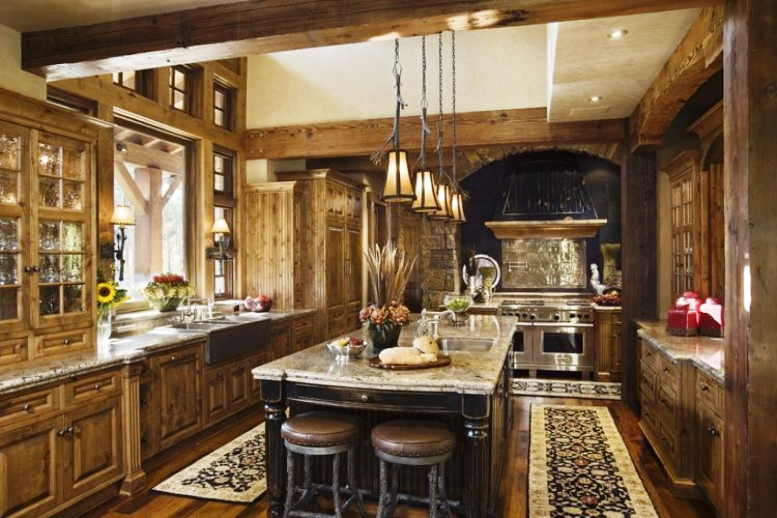 17 Best Images About Rustic Kitchen Cabinets On Pinterest Rose Marie Custom  Kitchens And Rustic Kitchen