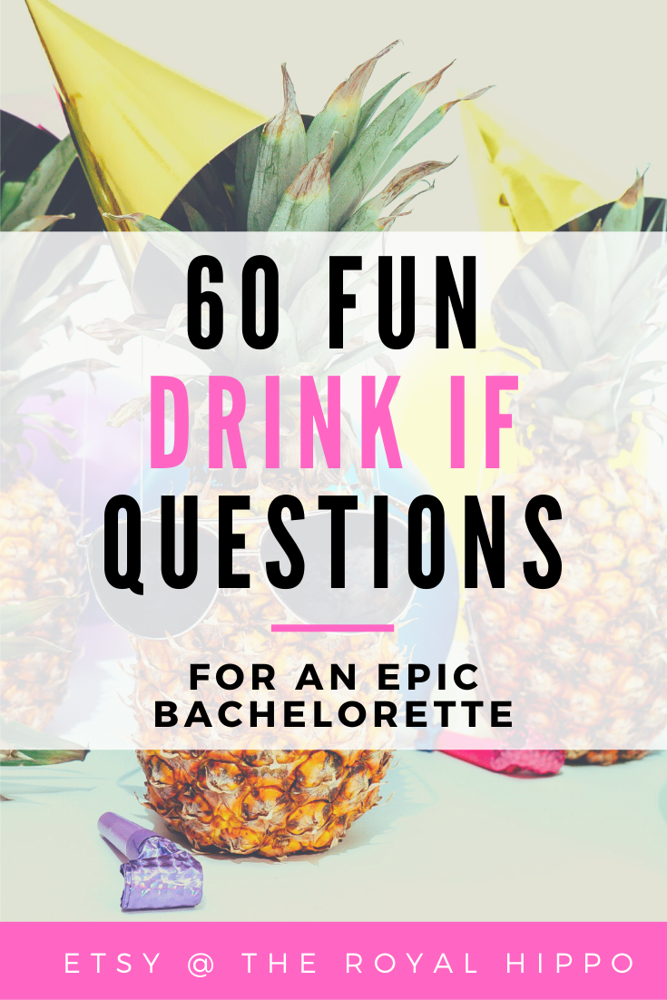 Fun DRINK IF Game, Hen Party Game, Printable Drink If