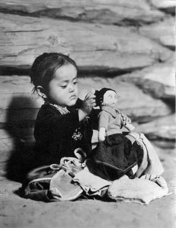 Navajo girl - circa 1940