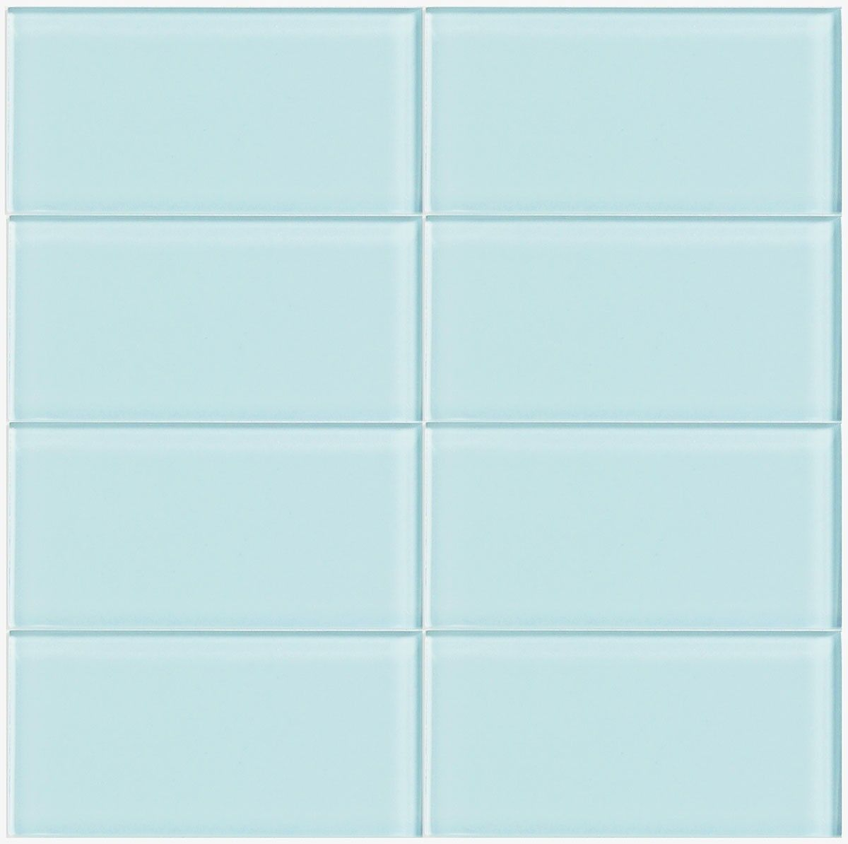 lush 3x6 vapor light blue glass subway tile lush 3x6
