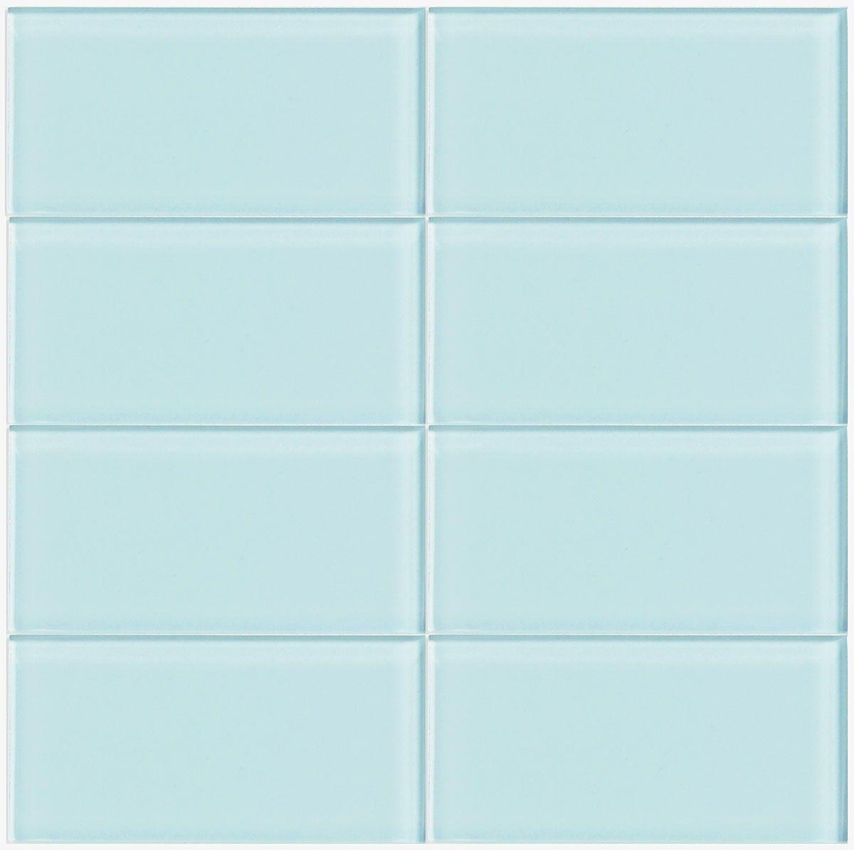 Light blue tiles bathroom - Lush Vapor 3x6 Glass Subway Tile Lush 3x6 Subway Tile Vapor Is