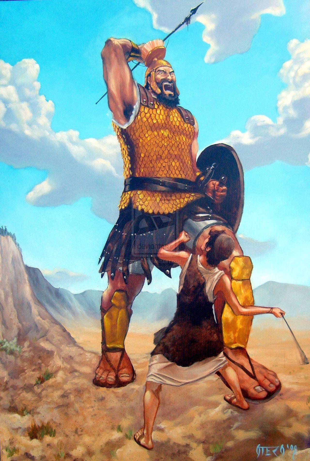 David Vs. Goliath by MarianoDavidOtero on deviantART | David bible, David and goliath, Bible heroes