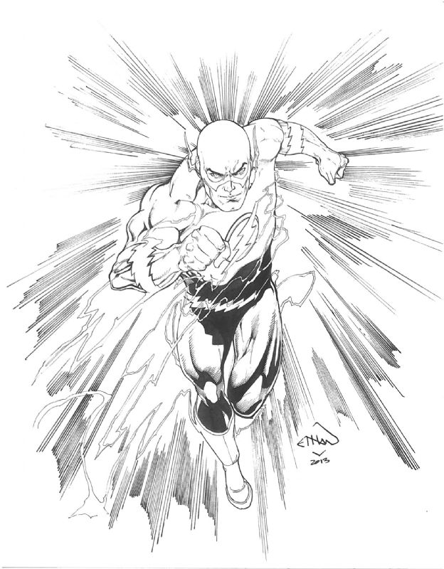 Flash By Ethan Van Sciver Comic Colouring Page Drawing Superheroes Flash Dc Comics Comic Books Illustration