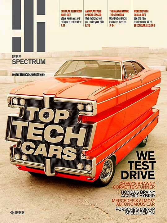 Pretty fab cover montage IEEE Spectrum published in NYC, the world's largest engineering association.