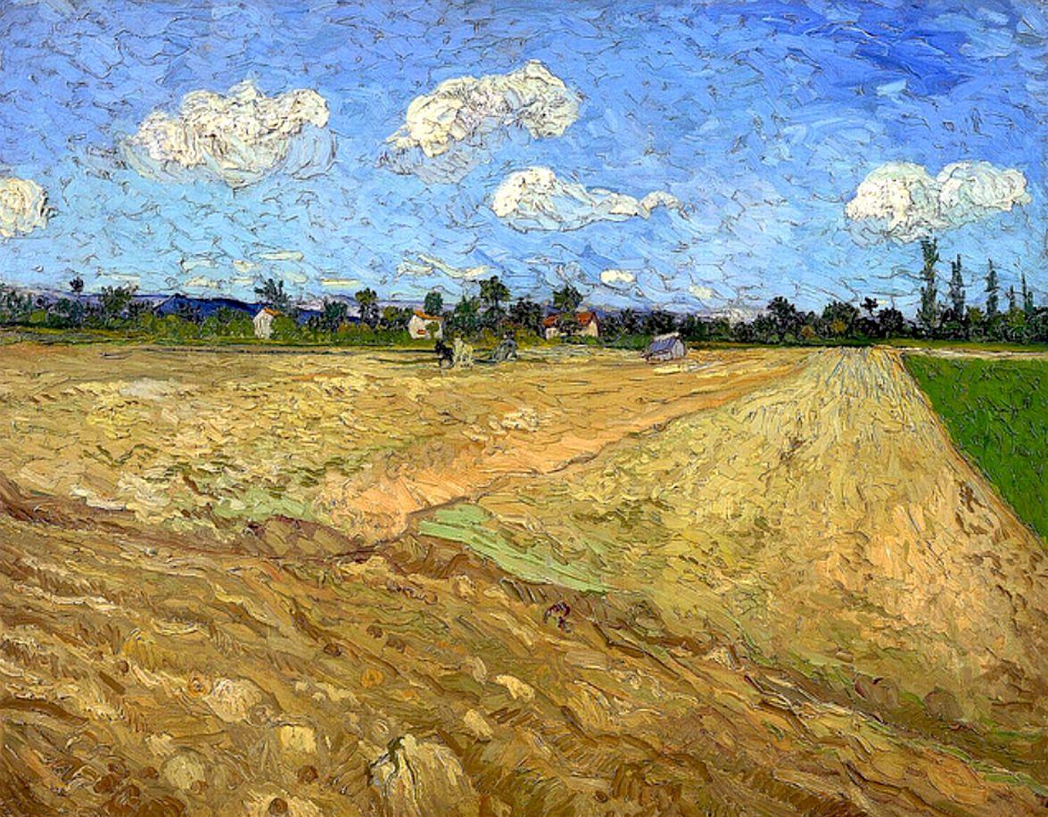 Vincent Van Gogh Plowed Field 1888 Van Gogh Art Vincent Van Gogh Van Gogh Paintings