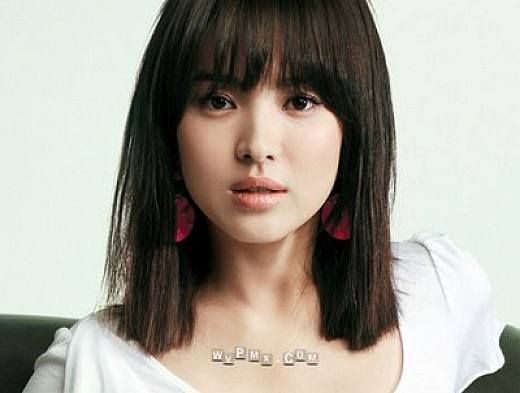 Hairstyles For Shoulder Length Hair With Bangs For Asian Women - Asian hairstyle with bangs