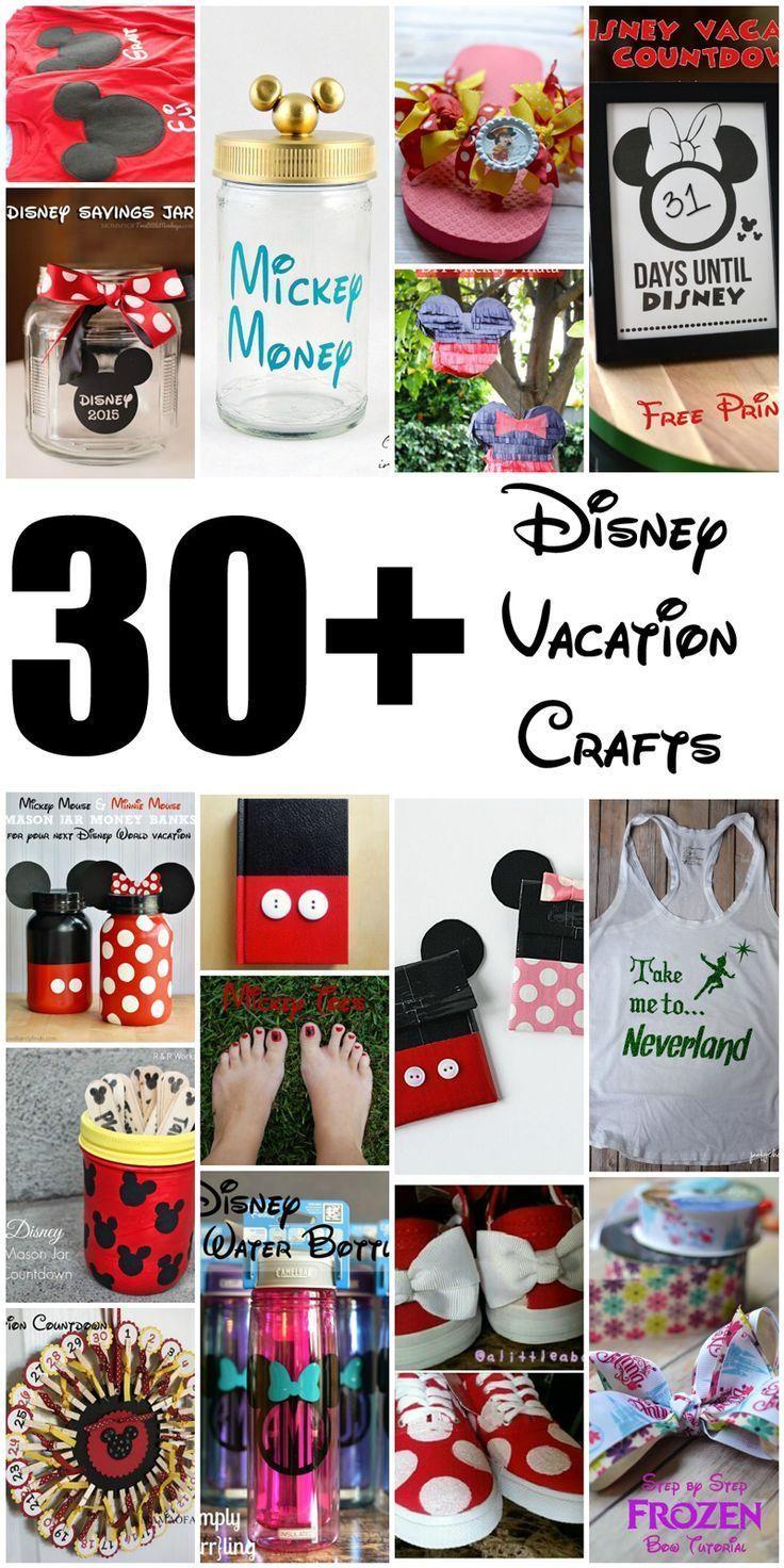30 Diy Disney Crafts For A Disney Vacation Poofy Cheeks Disney Crafts For Kids Disney Crafts For Adults Disney Diy Crafts