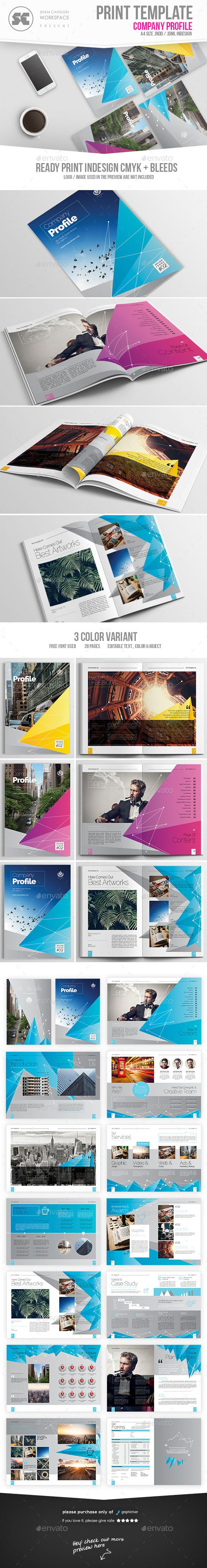 Company Profile  Company Profile Indesign Templates And Brochures