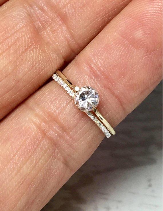 Big Sale Simple Ladies Rings 14k 10k Gold Ladies Wedding Set Ladies Cz Ring Midi Ring Gold G With Images Women Rings Gold Pinky Ring Midi Rings Gold