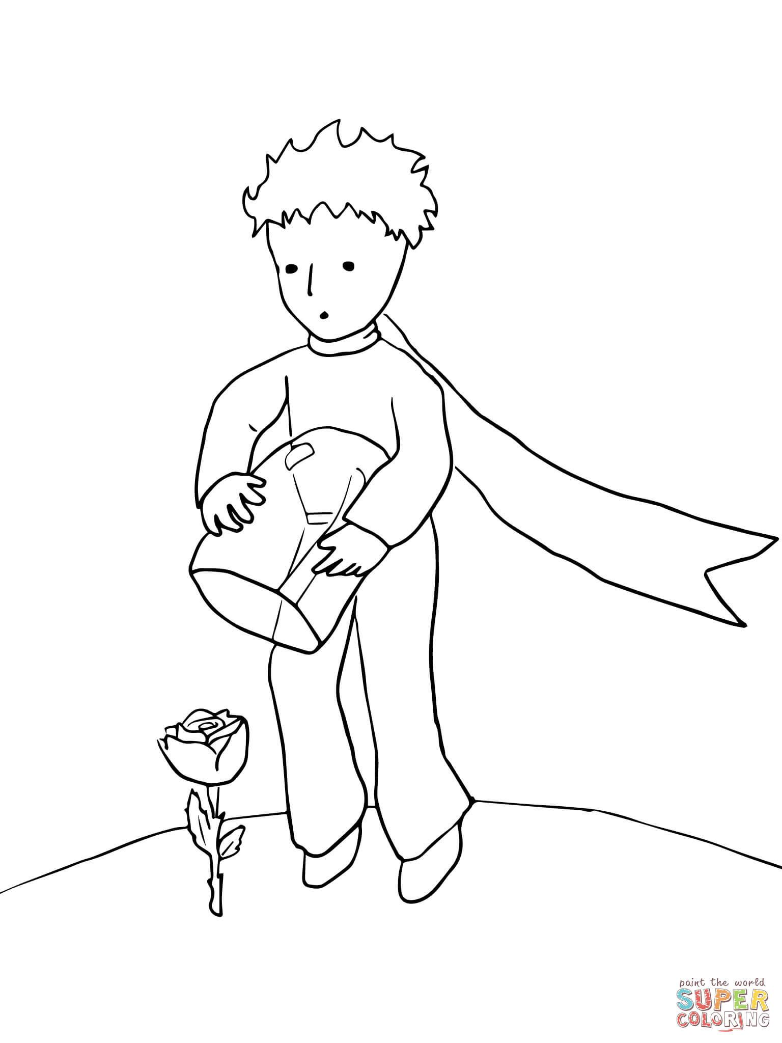 The Little Prince Protects His Rose | Super Coloring | Malux Mãos ...