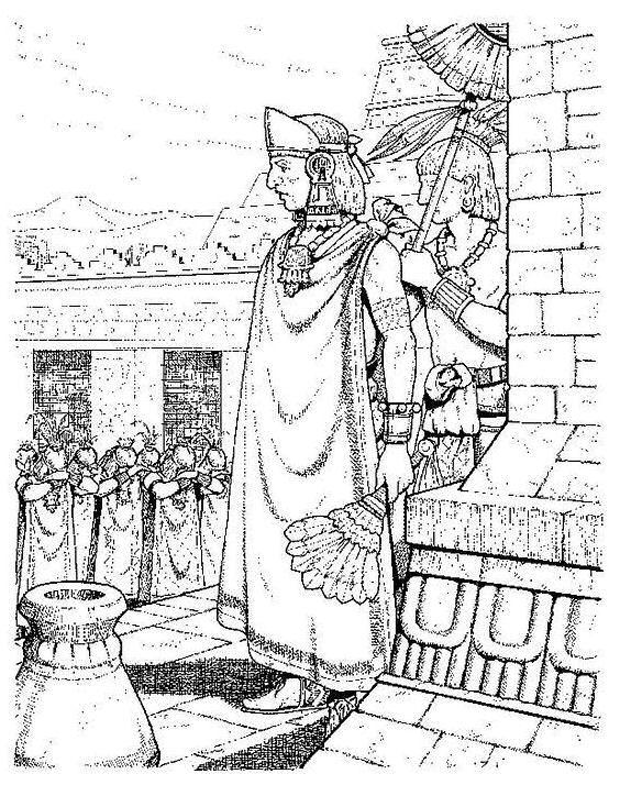 coloring page Aztecs - Aztecs | Aztecs | Pinterest | Dibujo azteca ...