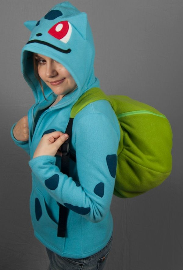 Bulbasaur Hoodie And Backpack In One | Cosplay every day | Pinterest ...