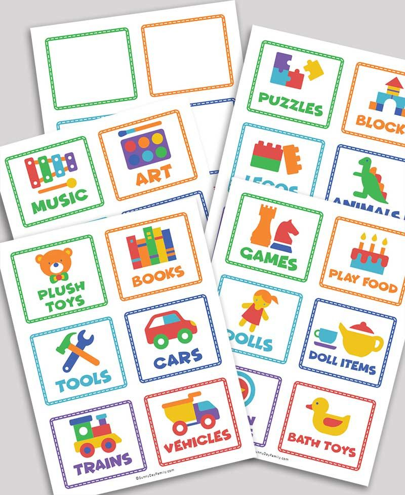 Free Printable Toy Storage Labels & Toy Organizing Tips