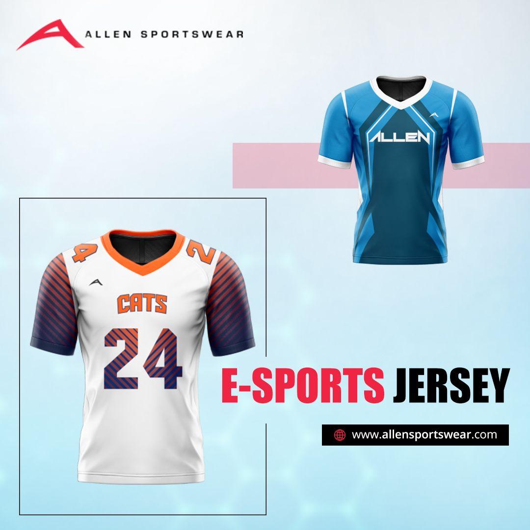 Make Weekend E Sports Sessions More Fun Interesting With Allen Sportswear Buy Fully Custom Team Jerseys In Polysp In 2020 Custom Sportswear Team Wear Football Pants