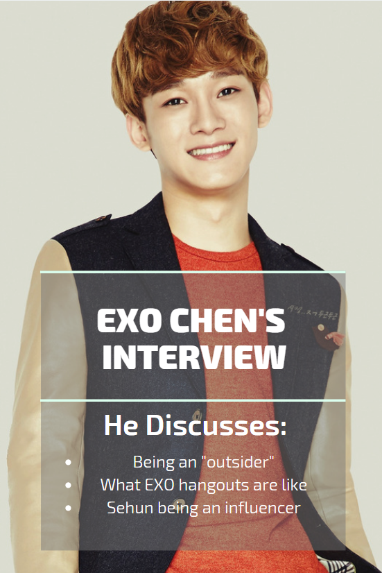 Exo Chen S Interview Being An Outsider Exo Gatherings And Sehun S Influence Syndicasian What Is Like Interview Sehun