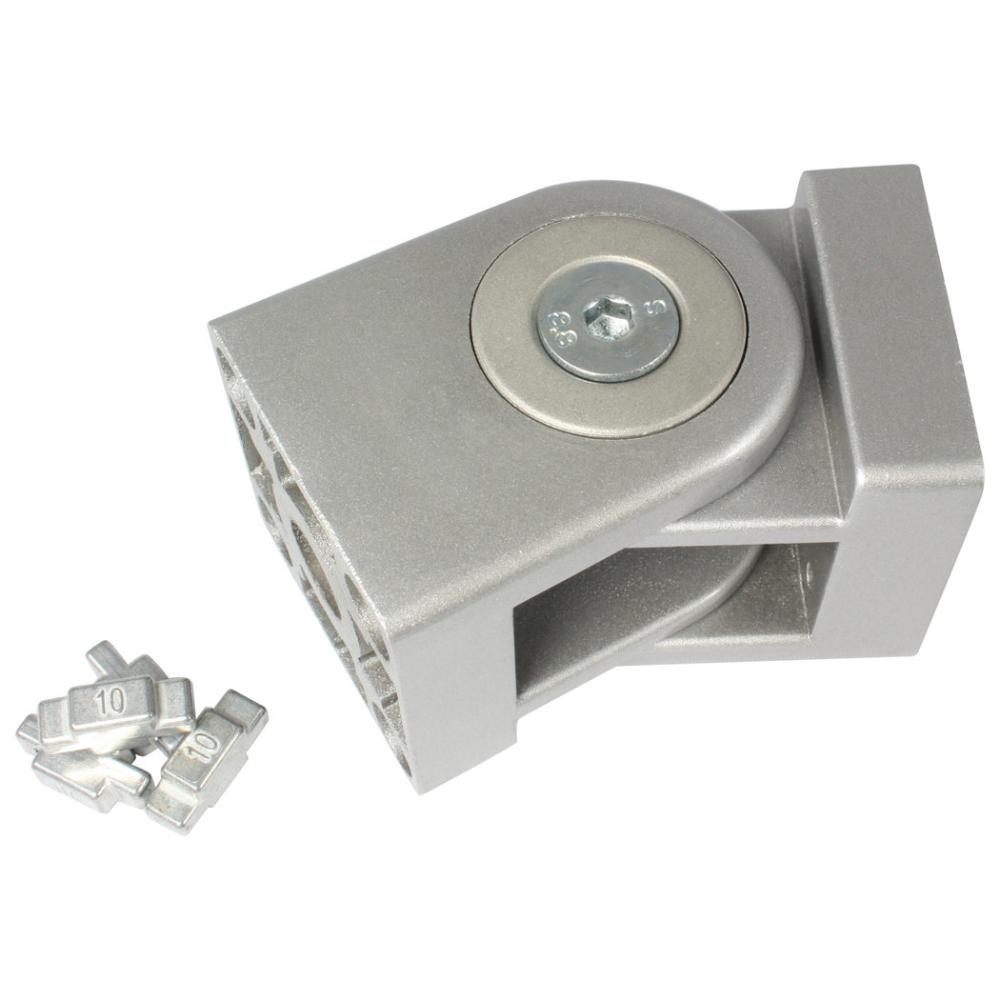 Pivot Joint 45x45 Slot 8 10 Aluminum Die Cast Alu Colour Laquered In 2020 Aluminum Extrusion Zinc Plating It Cast