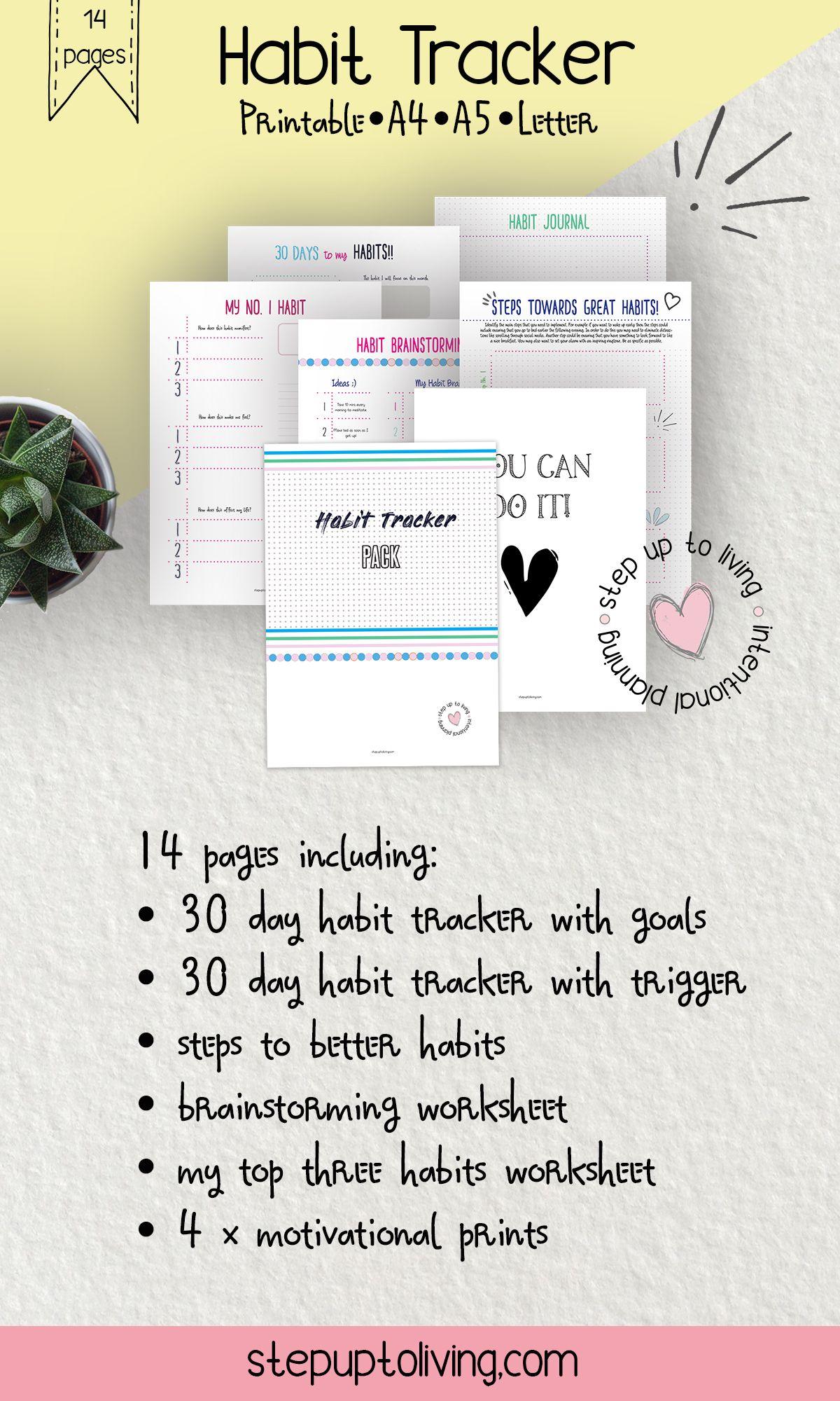 Habit Tracker 30 Day Habit Tracker Steps To Better
